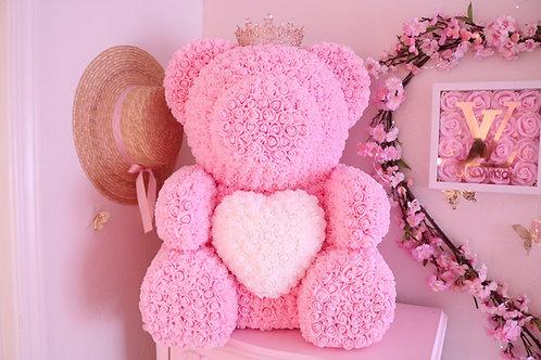 """25"""" Giant light pink Rose Bear"""