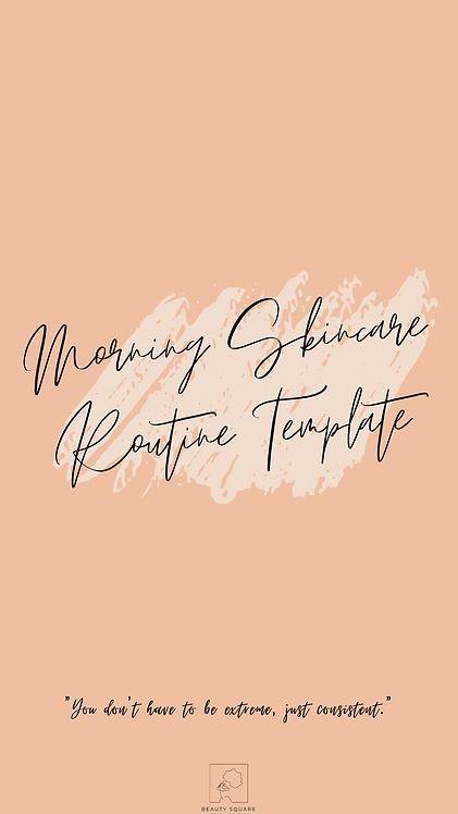 Morning Routine Template