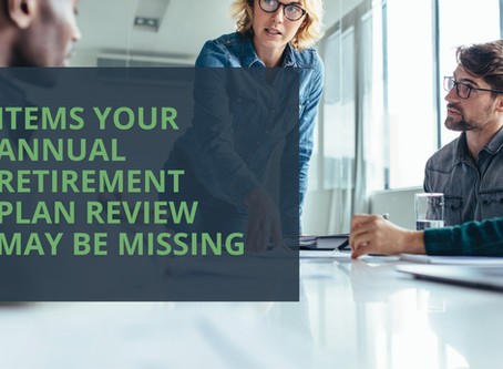 Blog Article: Items Your Annual Retirement Plan Review May Be Missing