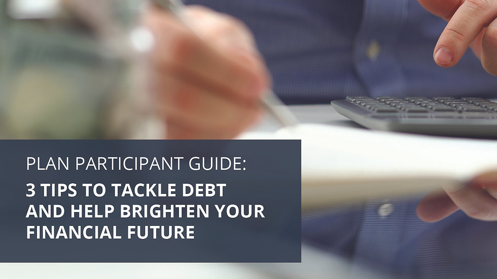 3 Tips to Tackle Debt