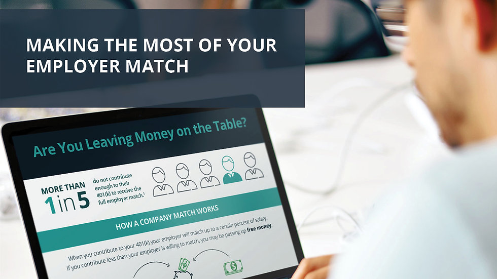 Making the Most of Your Employee Match