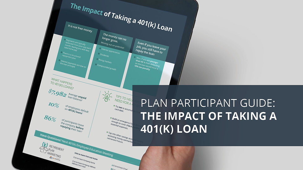 The Impact of Taking a 401(k) Loan