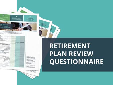 Plan Sponsor Guide: Annual Retirement Plan Questionnaire