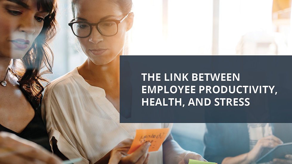 The Link Between Employee Productivity, Health and Financial Stress