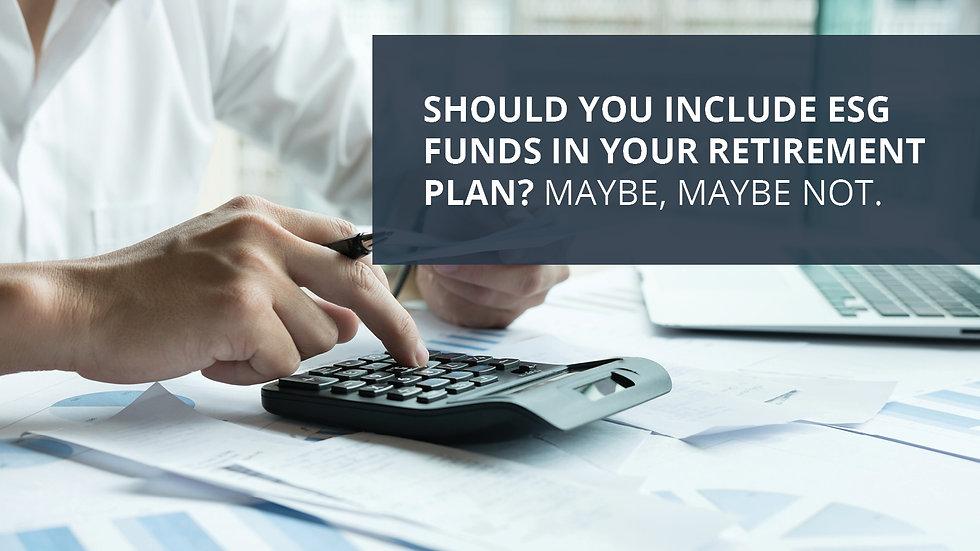 Should You Consider ESG Funds?