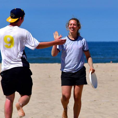 De Frisbee-ginner's training!