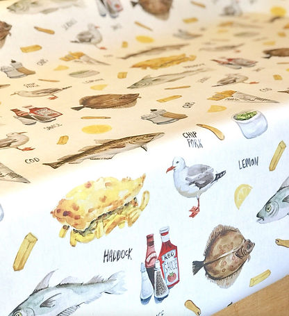 Surface Pattern Design Laura Silveira Floral Reportage Fish & Chips Design Illustration