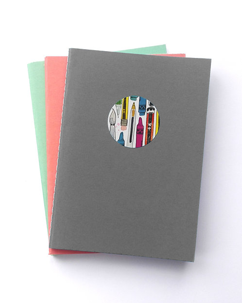 A6 Notepad set of 3