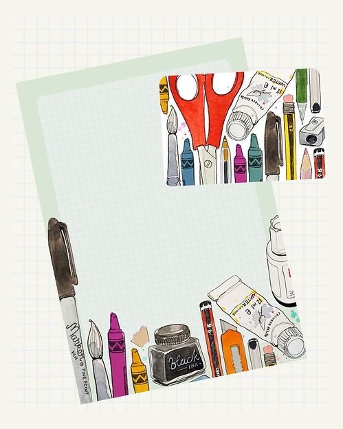 pattern design illustration stationary