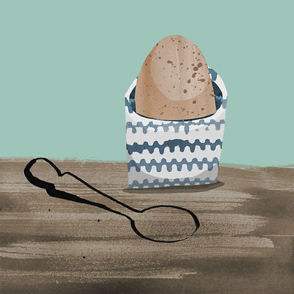 childrens illustration food & drink boiled egg