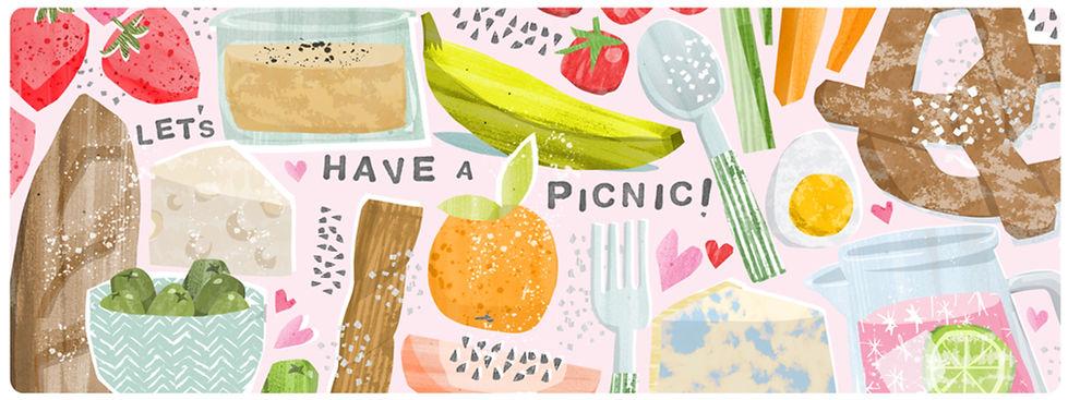 food-drink-commercial illustrator-picnic