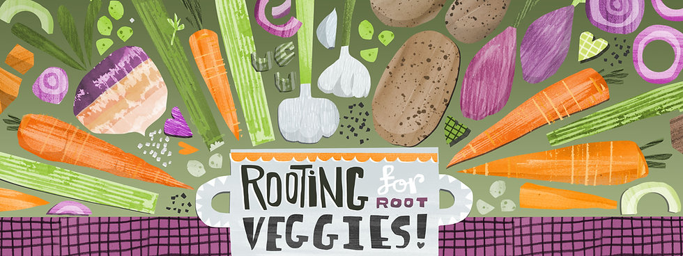 food illustration vegetables publishing