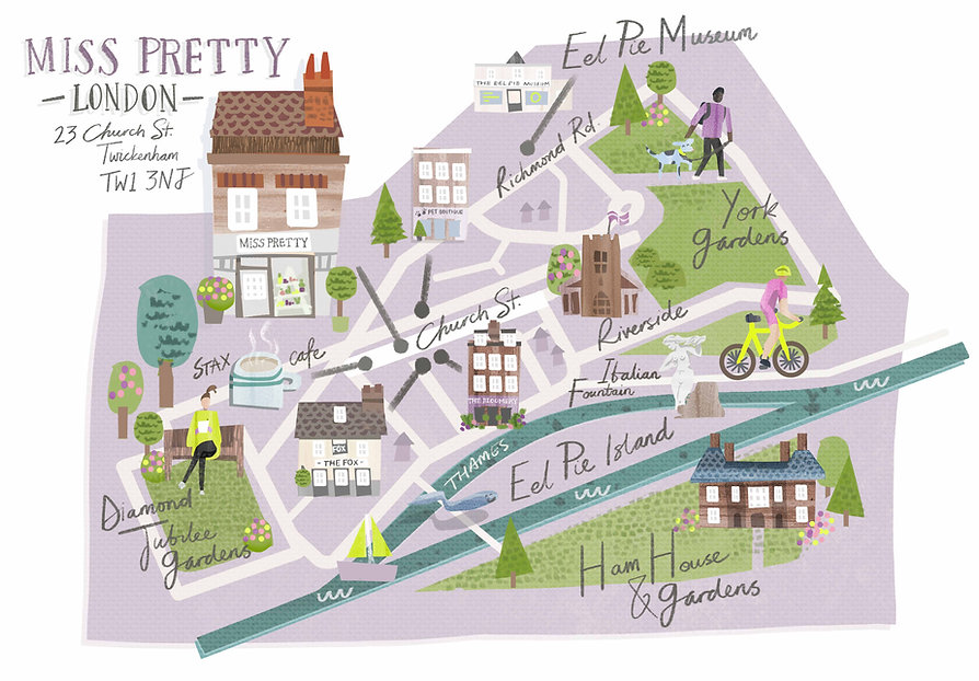 commercial map of london illustration