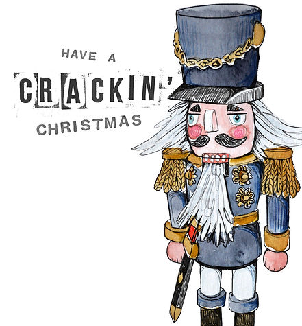 nutcracker christmas greetings card design