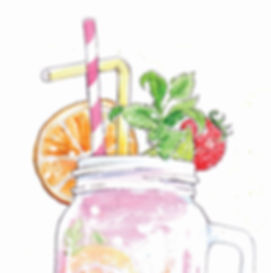 food & drink illustration watercolor laura silveira