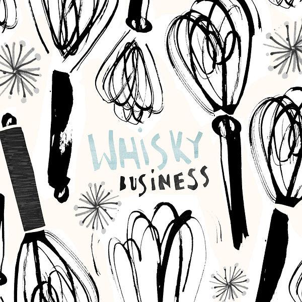 inky food illustration-utensils-pattern.