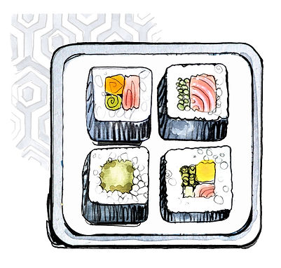 food-drink-commercial illustrator-sushi-