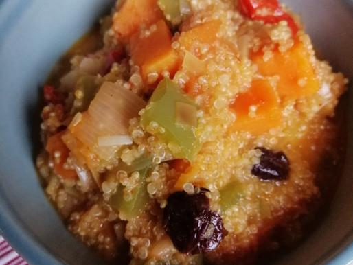 Kvinojas - saldā kartupeļa karijs