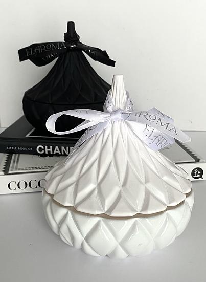 White Hershey Kisses Candle Jar