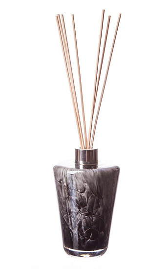 Hand blown Grey Marble Glass Cone Diffuser Bottle