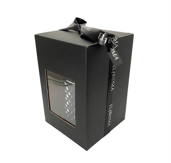 Black Gift Box for Vintage Geo Candle Jar
