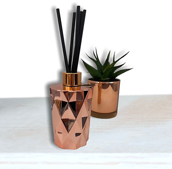 Luxury Geo Reed Diffuser - Rose Gold