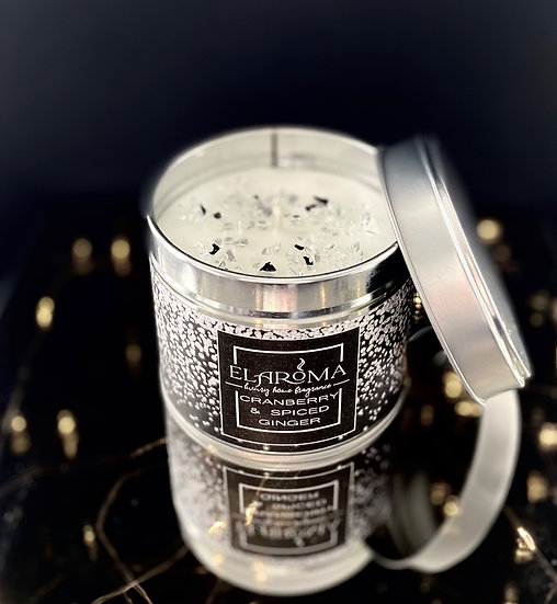 Cranberry & Spiced Ginger Candle Tin
