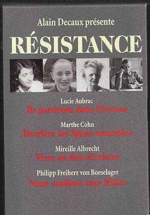 Resistance - Lucie Aubrac - Marthe Cohn  - Mireille Albrecht - Von Boeselager