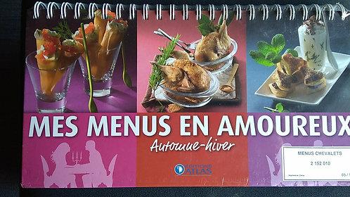 Livre-Chevalet de cuisine-Mes menus en amoureux- Printemps, été, automne, hiver