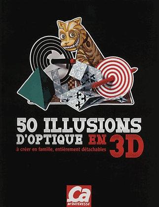 50 Illusions D'optiques 3d À Créer En Famille, Entièrement Détachables