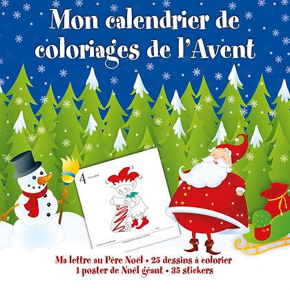 Mon Calendrier De Coloriage De L'avent  - 1, 2, 3 Soleil !