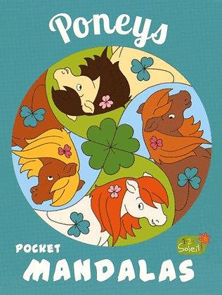Mandalas pocket  enfants- Poneys