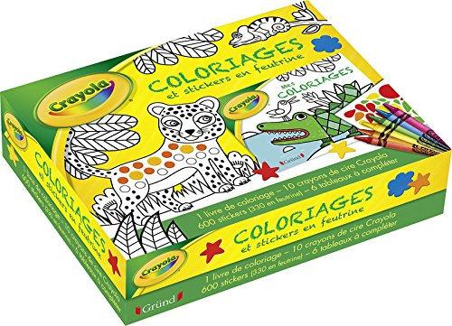 Coffret Crayola - Coloriages et Stickers en feutrine - Editions Gründ