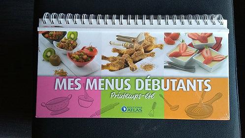 Livre-Chevalet de cuisine- Mes menus débutants - Printemps, été, automne, hiver