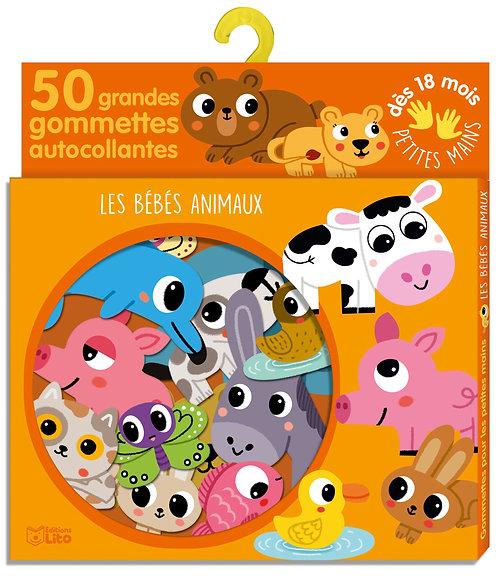 Gommettes pour les petites mains: Les bébé animaux - Dès 18 mois Boîte