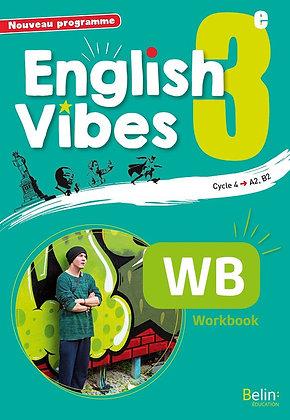 Livre scolaire - English Vibes 3ème -  workbook  - Cahier de l'élève Broché