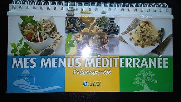 Livre-Chevalet de cuisine- Mes Menus méditerranée Printemps, été, automne, hiver