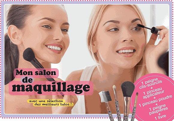 Mon Salon De Maquillage - Avec 1 Peigne Cils-Sourcils, 1 Pinceau Applicateur, 1