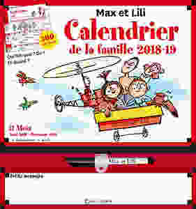 Calendrier 2019 de Max et Lili