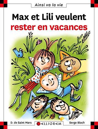 Max et Lili veulent rester en vacances - Serge Bloch. D. de Saint Mars