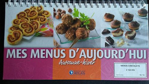 Livre-Chevalet de cuisine-Mes menus d'aujourd'hui Printemps, été, automne, hiver