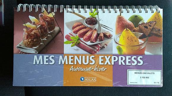 Livre-chevalet de cuisine, Mes menus express printemps, été, automne, hiver