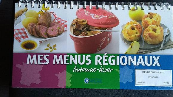 Livre-Chevalet de cuisine- Mes menus régionaux - Printemps, été, automne, hiver