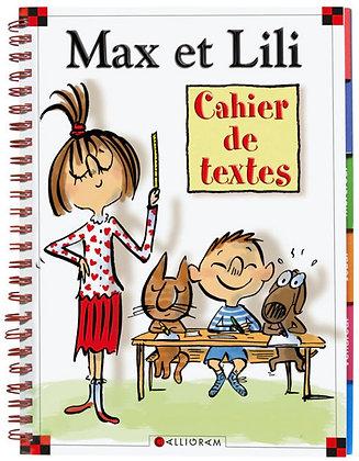 Cahier de textes Max et Lili Reliure à spirales – 27 avril 2017