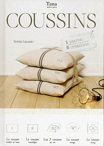 COUSSINS - 1 PATRONS - 5 CREATIONS - Sonia Lucano