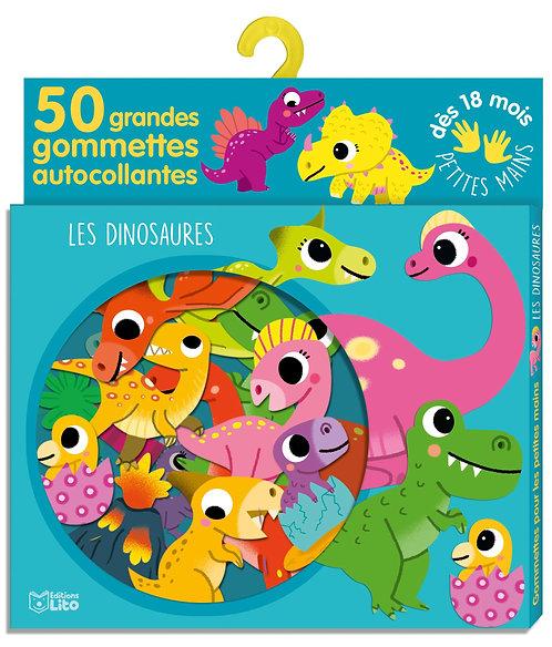 Gommettes pour les petites mains: Les dinosaures - Dès 18 mois Boîte