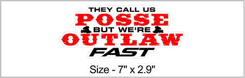 Outlaw Fast Sticker