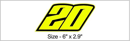Neon Yellow 20 Sticker