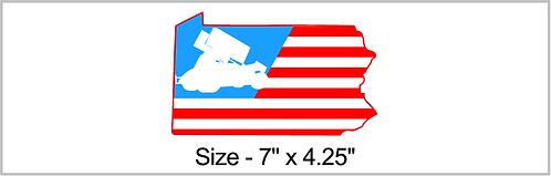 PA American Sprintcar Sticker