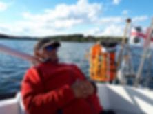 Relaxen auf dem Segelboot Segeln
